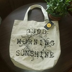 Life is Good Lg Cotton Tote Good Morning Sunshine